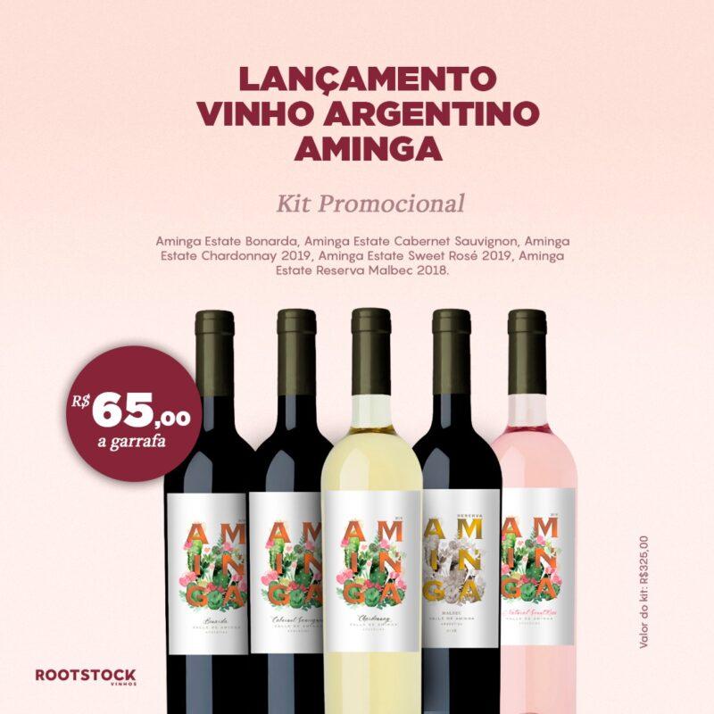 Quinteto de Vinhos Argentinos Aminga