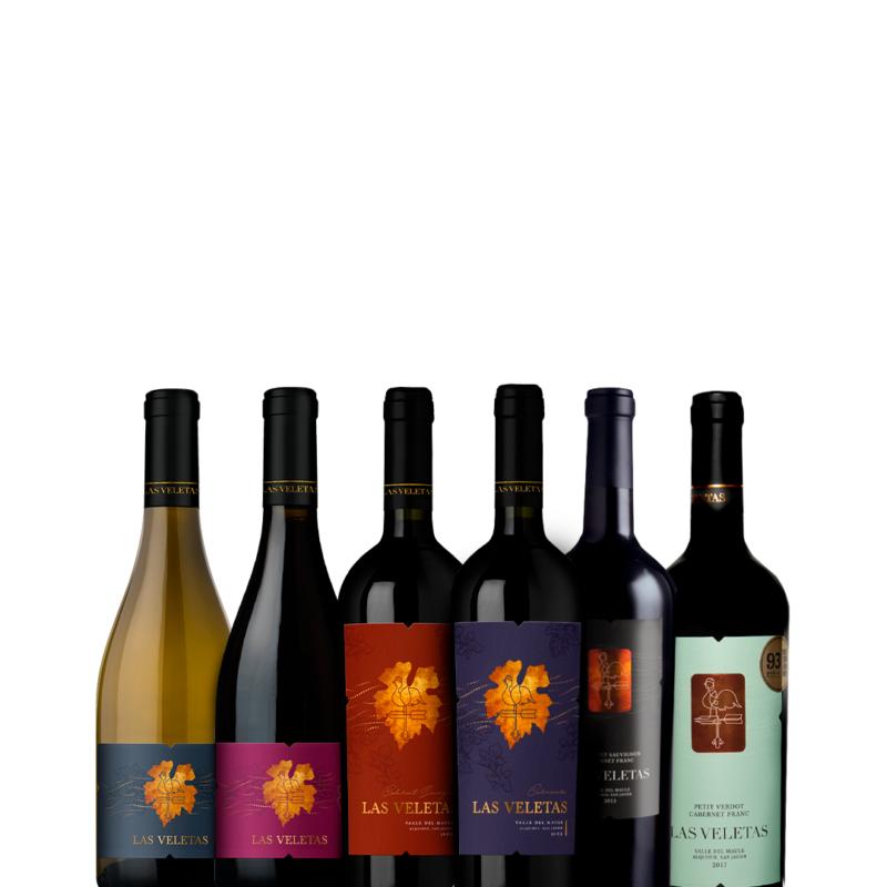 Sexteto de Vinhos Chilenos Las Veletas