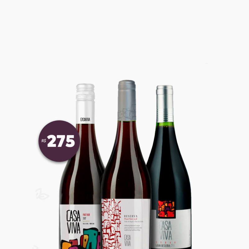Trio Pinot Noir Casa Viva Wines