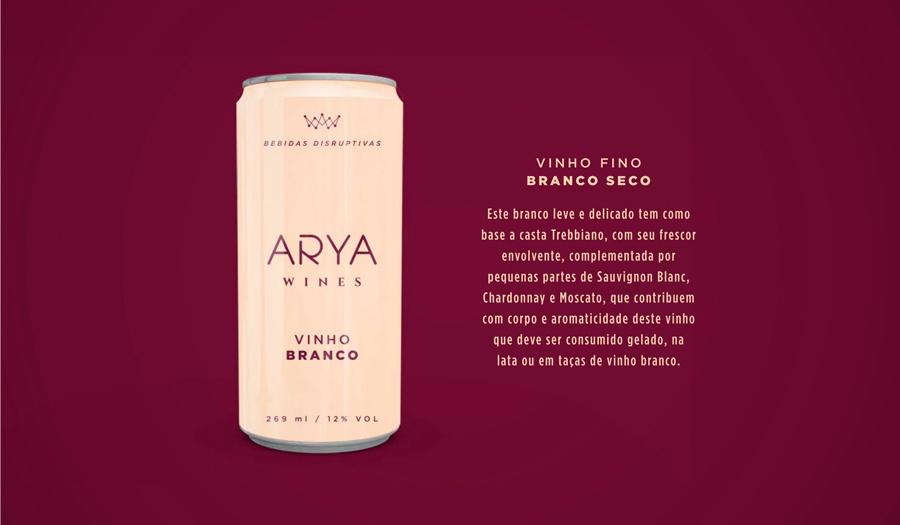 Vinho Branco em Lata Arya Wines