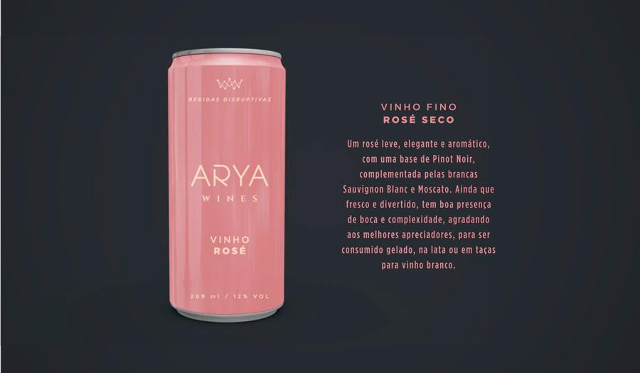 Vinho Rosé em Lata Arya Wines