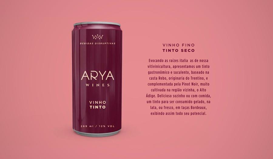 Vinho Tinto em Lata Arya Wines