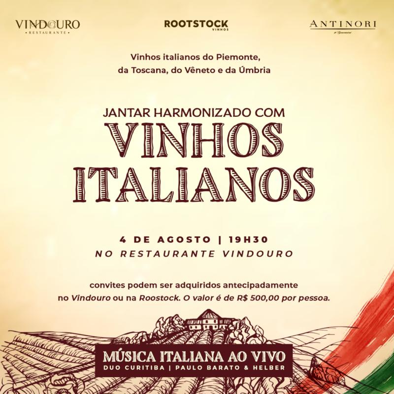 Jantar Harmonizado com Vinhos Italianos