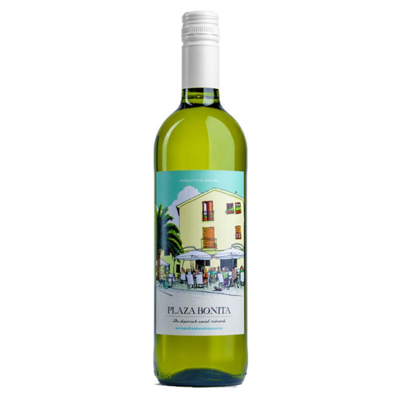 Vinho Branco Espanhol Viura/Airen Plaza Bonita